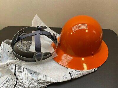 Msa Skullgard Protective Hard Hat Fiberglass Full Brim - Orange Size Large