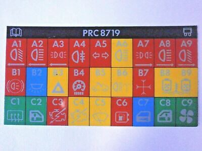 PRC8719 Fuse Box Indicator Decal with Air Con for Range Rover Classic Hard Dash