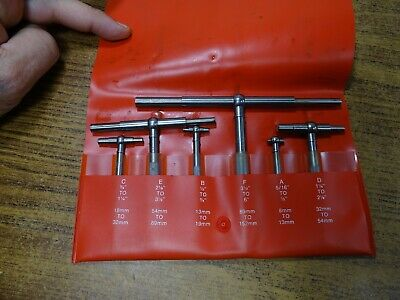 6pc Starrett Telescoping Gages S579h Snap Gage Millwright Machinist