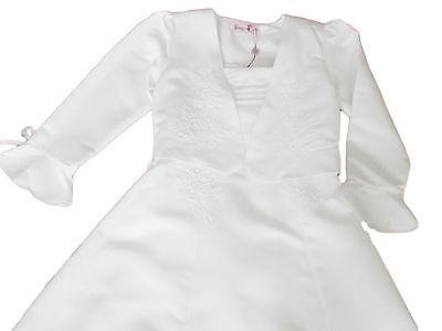 hen festliches Kleid mit Bolerojacke Taufe weiss Gr. 98 (Blumen-mädchen-kleider Mit Jacken)