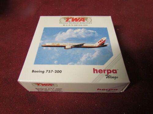 1:500 HERPA WINGS 503761 TWA TRANS WORLD AIRLINES BOEING 757-200