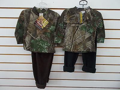 Infant,Toddler, & Boys Realtree Camo 2pc T-Shirt & Fleece Pants Set Sz 6/12m-6/7 Infant Realtree Camo