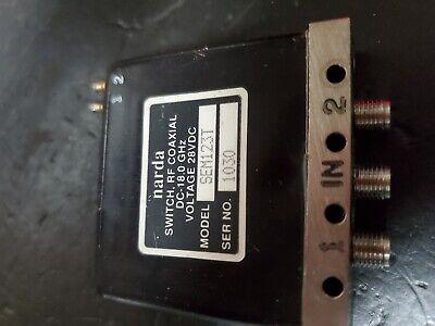 Narda Sem123t Coaxial Sma Failsafe Latch Ttl Indicator Relay Dc-18 Ghz Sp2t