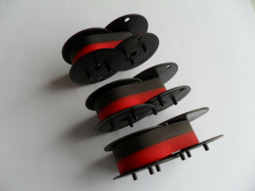 3 PACK Victor 1230-4 1240-3A 1260-3 1280-7 Calculator Ink Ribbon Black/Red