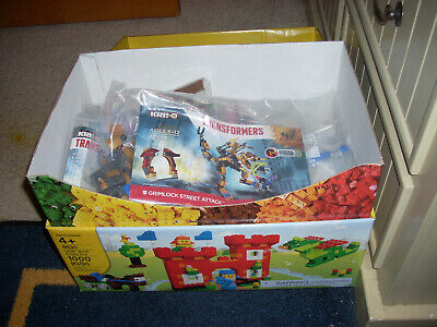HUGE HUGE  BOX OF INDIVIDUAL BUILDING EVENTS AT TOYS R US PLUS MINI SET