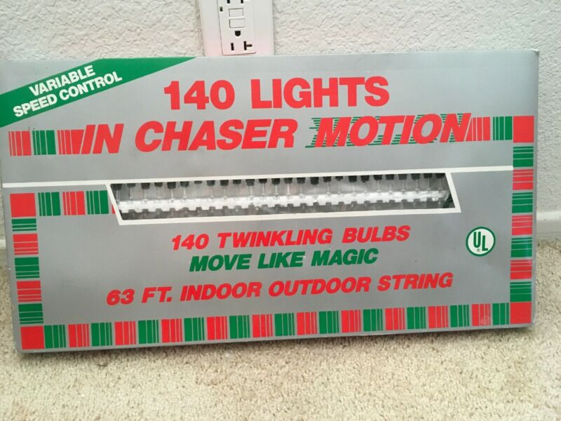 Vintage Christmas 140 Lights In Motion Twinkling Control 63ft Indoor Outdoor New