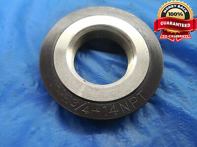 34 14 Npt L1 Pipe Thread Ring Gage .75 34-14 Quality Inspection N.p.t. L-1