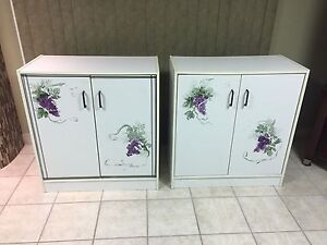 2 White Cabinets