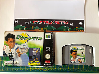 All Star Tennis 99 Nintendo N64 PAL Boxed With Instructions