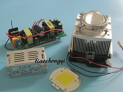 100w Led Chip 100w Led Drivercooling Heatsink Lens With Reflector Collimator