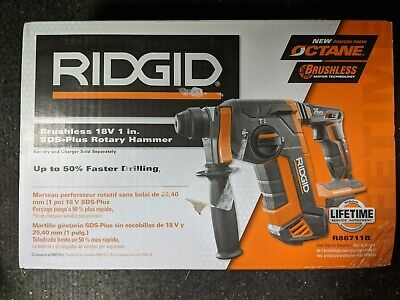 Ridgid Brushless 18v 1 Sds-plus Rotary Hammer Tool-only R86711b Brand New Open
