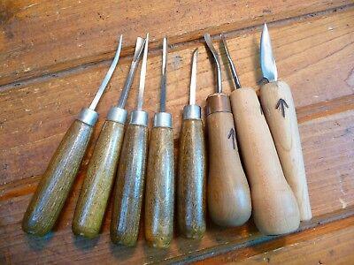 Set of Wood Carving Tools Gouges Knife Arrow Mark