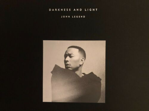 """JOHN LEGEND, AUTOGRAPHED, DARKNESS AND LIGHT, HARDCOVER BOOK, 12""""x12"""", FREE SHIP"""