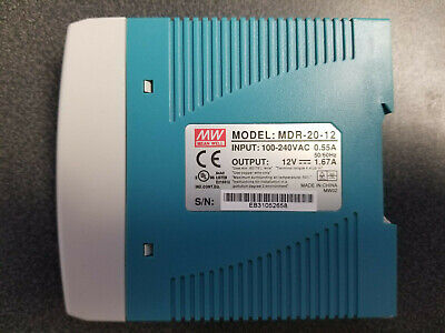 Mdr-20-12 - Mean Well 20w Single Output Power Supply 12vdc New In Box