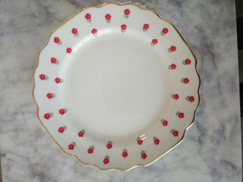 "Blushing Rose Dalrymple Lido WS George 6 3/4"" Bread Plates (5) USA 1950"