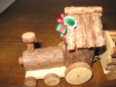Home Interiors Wooden Train Candle Holder with Original Box