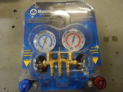 Mastercool 84772 R134a 2-way Manifold W Service Couplers And Charging Hoses
