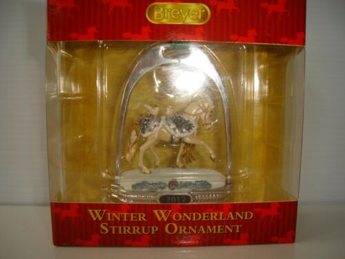 Breyer WINTER WONDERLAND Horse Stirrup Ornament NEW in Box