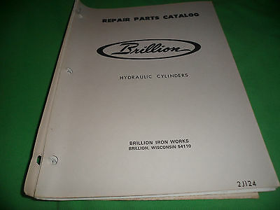 Drawer 16 Brillion Hydraulic Cylinders 2j124 Repair Parts Catalog