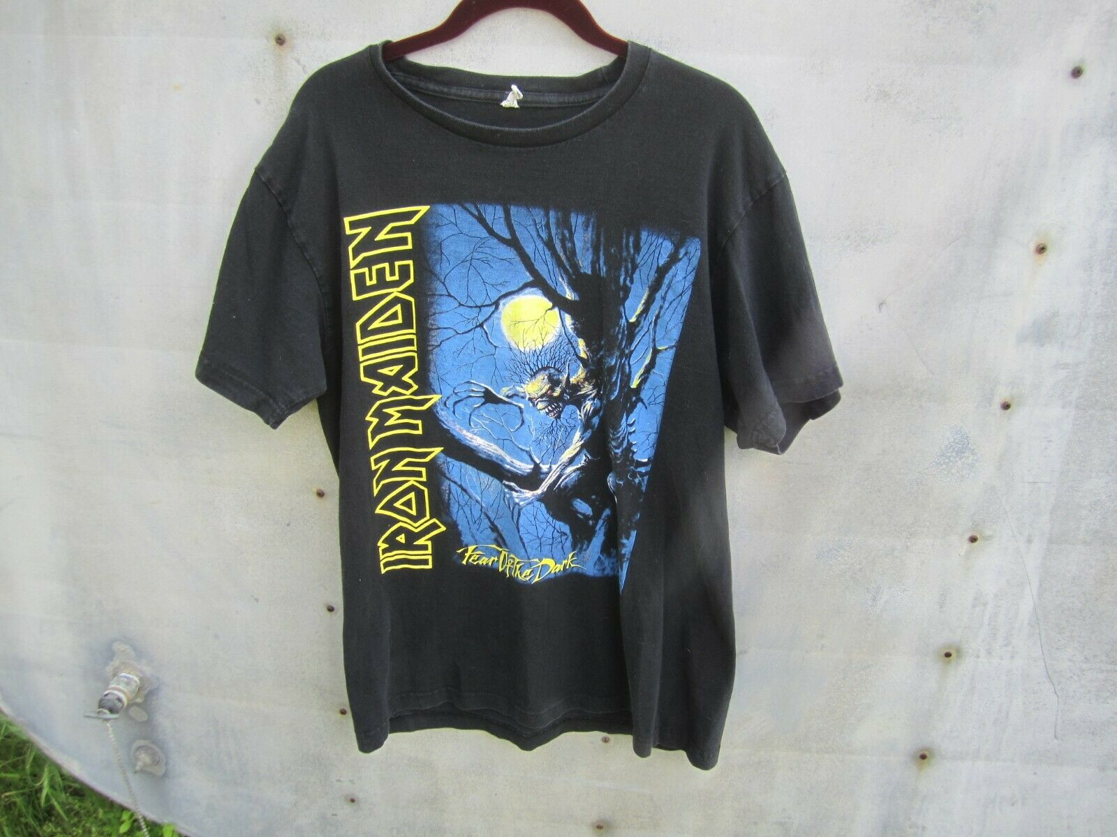 Iron Maiden Men S Fear Of The Dark Live Work Shirt X Large Black