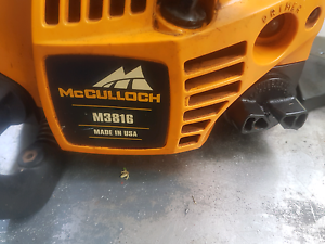McCulloch chainsaw made in tbe U.S.A. Rasmussen Townsville Surrounds Preview