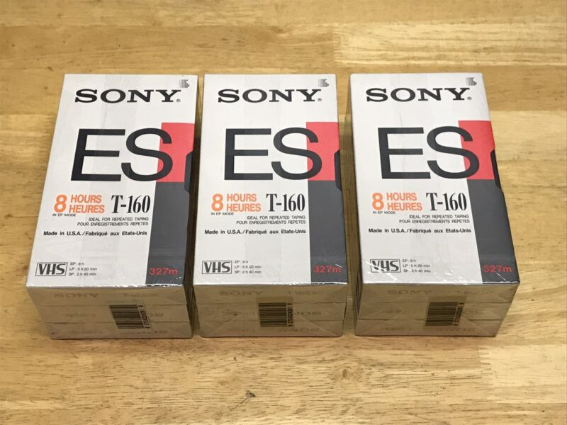 SONY T-160 & T-120 VHS Blank Tape Lot BRAND NEW FACTORY SEALED FREE SHIPPING!!