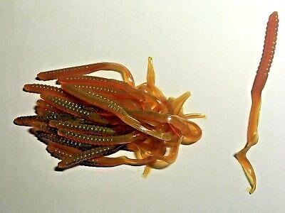 "Black w//Red Flk 20 Cnt Hook Tail Series New Gene Larew 8/"" Electric Salt Worm"