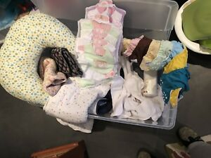 Huge lot of baby items (8 fuzzibunz reusable diapers included)