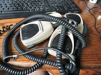 Lot Of 4 Motorola Hmn1052a Radio Microphones - Astro Spectra Maratrac All Work