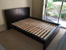 Ikea Malm Queen Bed (With Free Ikea Mattress) Chatswood Willoughby Area Preview