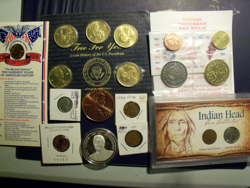coins & collectables,buffalo,indian,1943steelbill clinton confederate restrike c