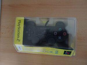 Playstation-2-PS2-Original-Dual-Shock-Mando-NEGRO-caja-sellada