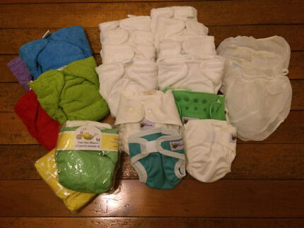 AS NEW! ADJUSTABLE CLOTH NAPPIES