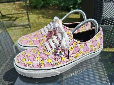 Vans Nintendo Princess Peach Lace Up Authentic Trainers UK 7 RARE