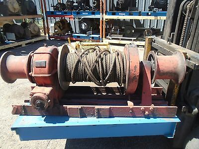 Dayton 5W659A Electric Winch 1/2 HP 115 Volt 1000 LB 45 FT Steel