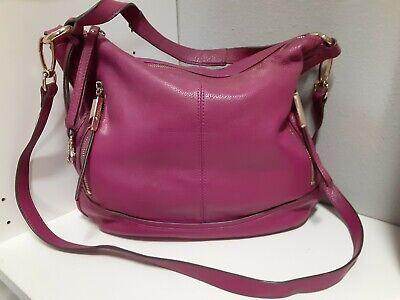 B Makowski Magenta Pink Soft Leather Handbag Shoulder