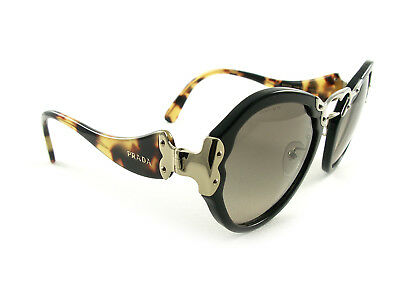 New Prada Sunglasses SPR 09T Black Havana 1AB3D0 Authentic