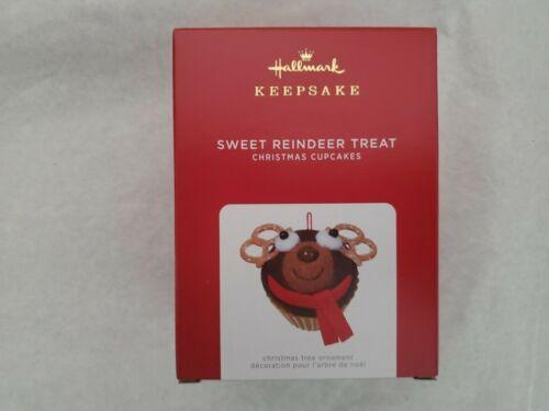 Hallmark 2021 Limited Edition Sweet Reindeer Treat Cupcake Keepsake Ornament