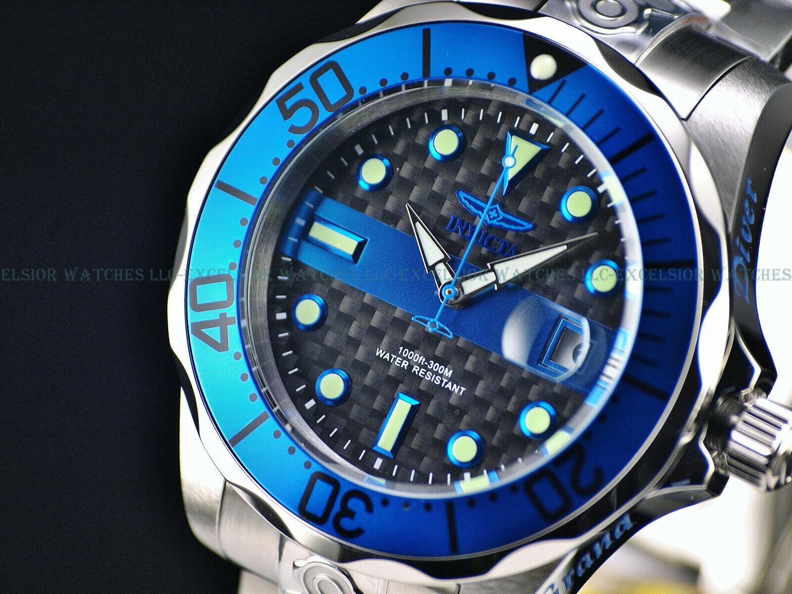 Invicta Grand Diver Police Edition Thin Blue Line Steel