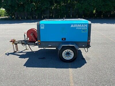 2011 Airman Pds185s Towable Air Compressor - Only 234 Hours