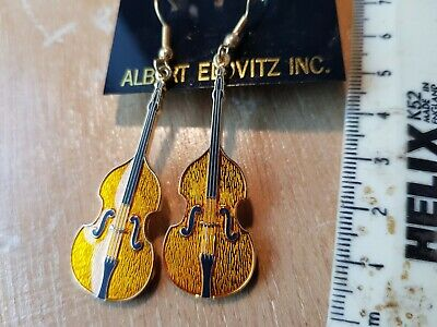 Double Base Musical Instrument earrings Double Base Instrument