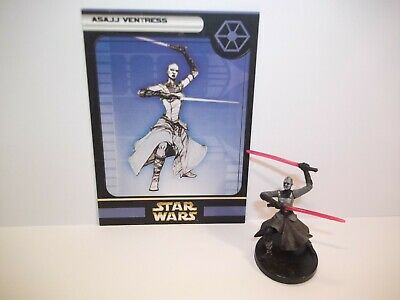 Star Wars Miniatures - Asajj Ventress 27/60 + Card - Rare - Clone Strike