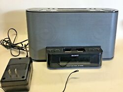 Sony ICF-CS10IP Audio Dock with Clock and Radio for iPhone ipod aux input any