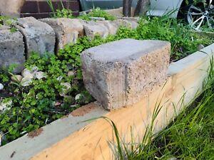 Garden wall block rocks