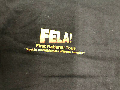Vintage Shirt - Fela First National Tour Lost In The Wilderness North America XL