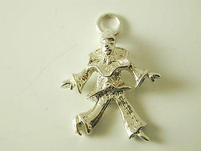 Charm dancing clown vintage silver 1.8 grams