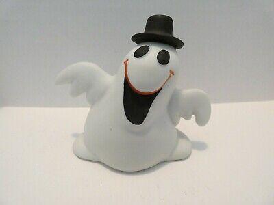 Vintage Ceramic Ghost With Black Top Hat Halloween Figurine UCGC~ 80's