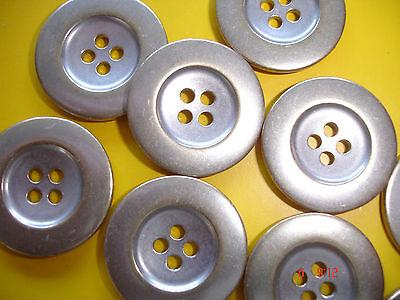 5 Knöpfe Metall eisgold 22mm 4-Loch W97.1