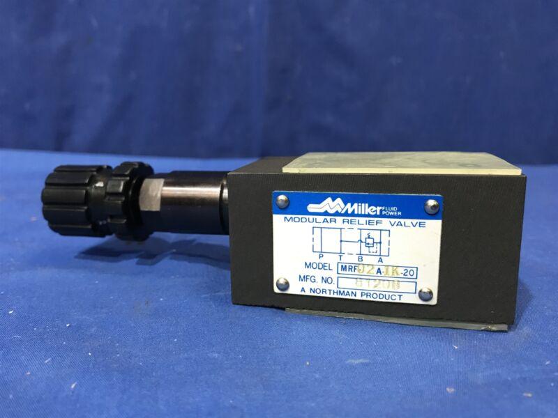 Miller Northman MRF-02A-1K-20 modular hydraulic relief valve Free Shipping