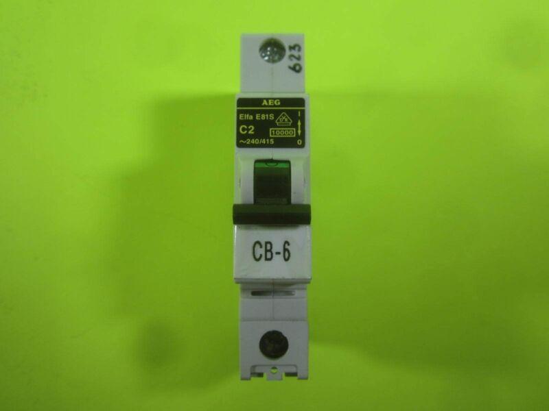 AEG Elfa Circuit Breaker -- E81S C13 -- Used